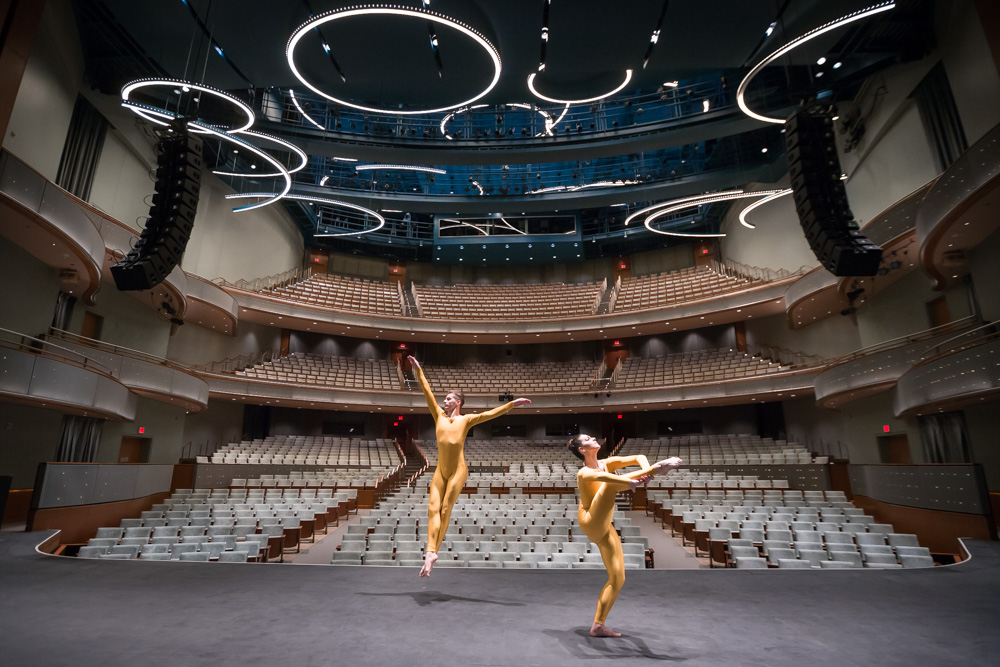 Photo: Bill Adams // Dancers: Benton Happel and Lauren Vasilakos, University of Iowa Undergraduates // Venue: Hancher Auditorium