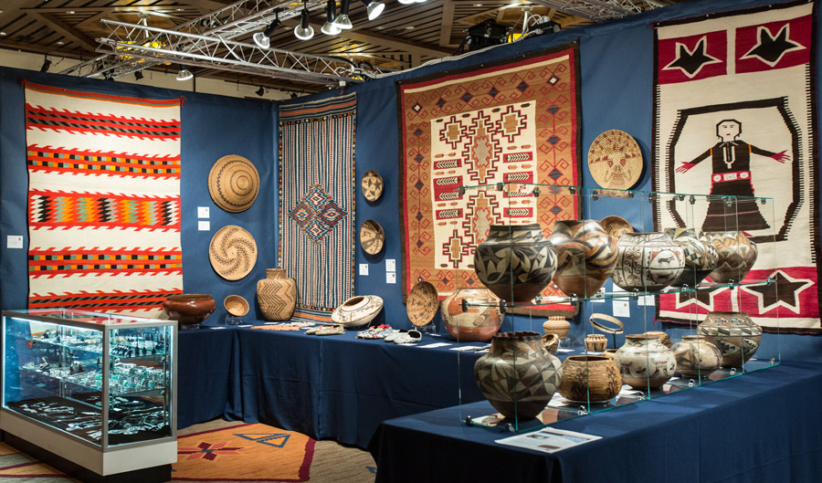 Marcy Burns American Indian Art booth at Whitehawk Antique Indian and Ethnographic Show 2014