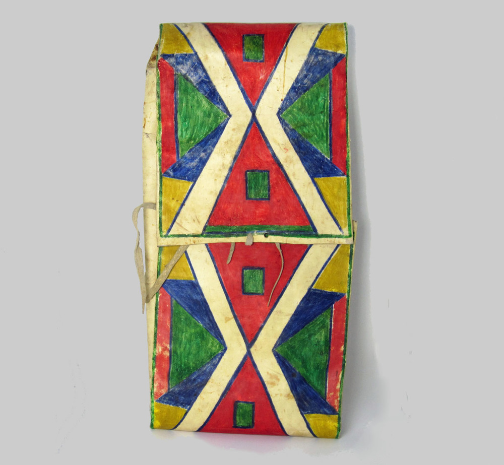 "Plains parfleche case, 14"" wide x 28"" long. Circa 1890. Ex: Morningstar Gallery, 1987; Private Collection. $4500. (mc1933)   https://marcyburns.squarespace.com/config#/