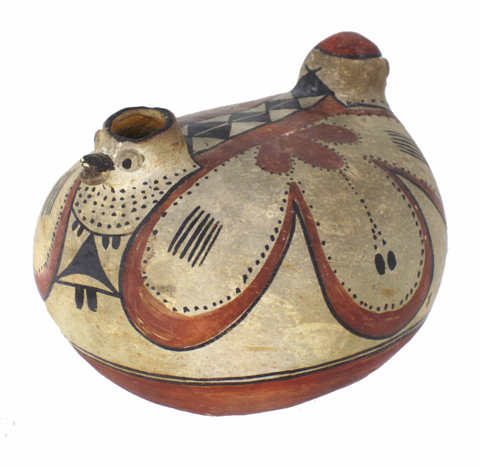 Acoma/Laguna double-bird vessel, circa 1870-1880.  http://www.marcyburns.com/pottery-collection/hh55fzrshg95dwpd9gdgwhhzbhi3o0