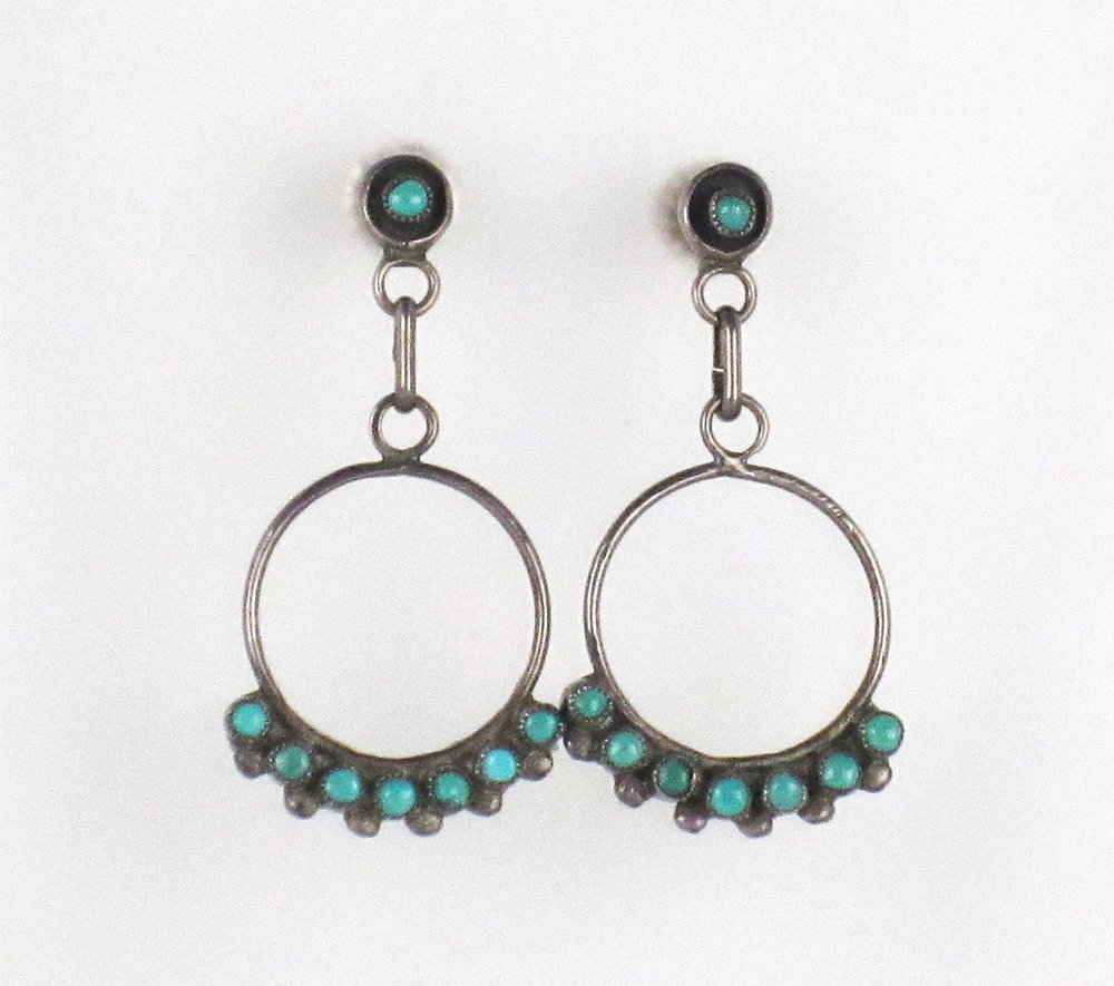 Wedding & Anniversary Bands Turquoise Round Drop Earings Jewelry & Watches