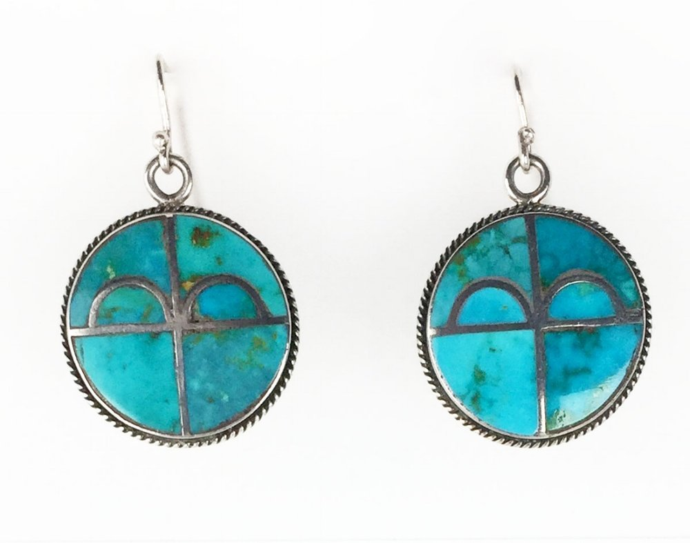 Zuni Blue Gem earrings