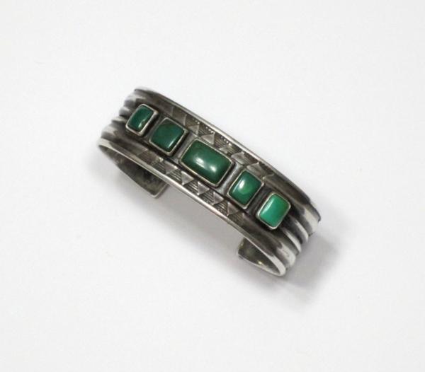 Navajo bracelet with Cerrillos turquoise, circa 1920