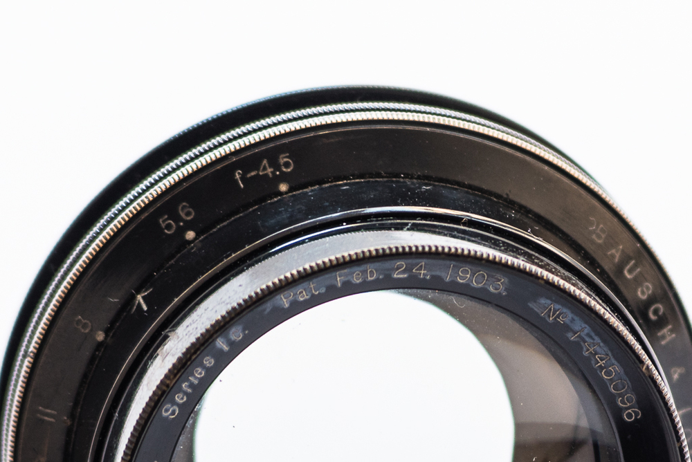 Bausch & Lomb - Zeiss Tessar lens, wide open at f/4.5. Photo: Ian Tuttle