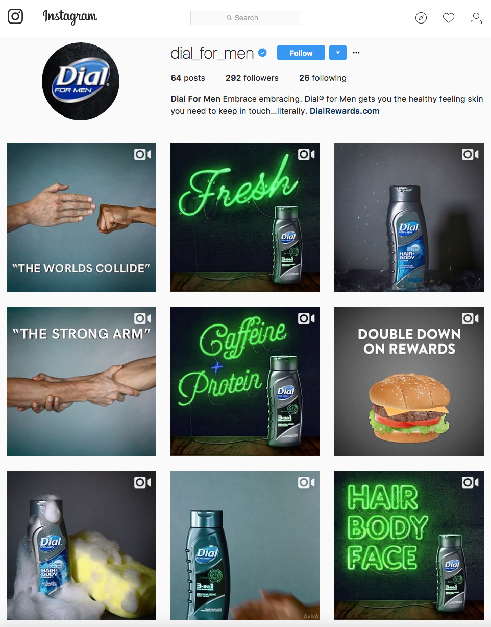 The Dial For Men instagram page - screengrab.