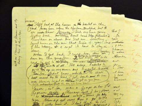 Early Draft of the novel, Beloved (Princeton University Library)