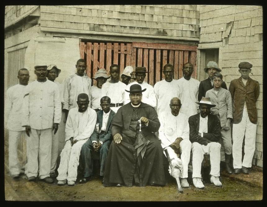Father Purcell & Converts, c. 1890 (Caribbean Photo Archive/Autograph ABP)
