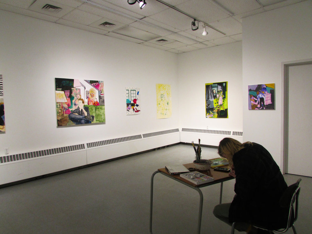 A few weeks ago Amber Koprin signed up to use Gallery Ten for a week so she could spread out her work and prepare for her Senior Project.