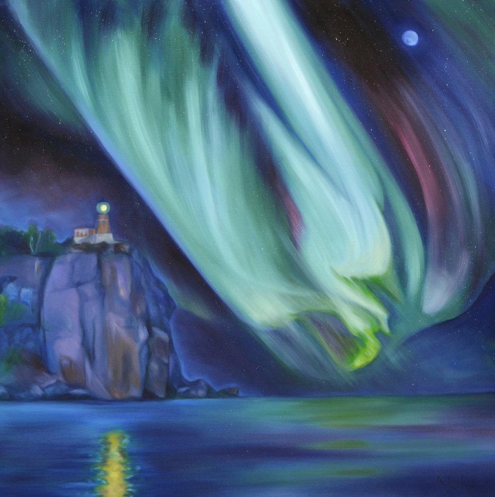 Northern Lights: Split Rock Lighthouse (SOLD)