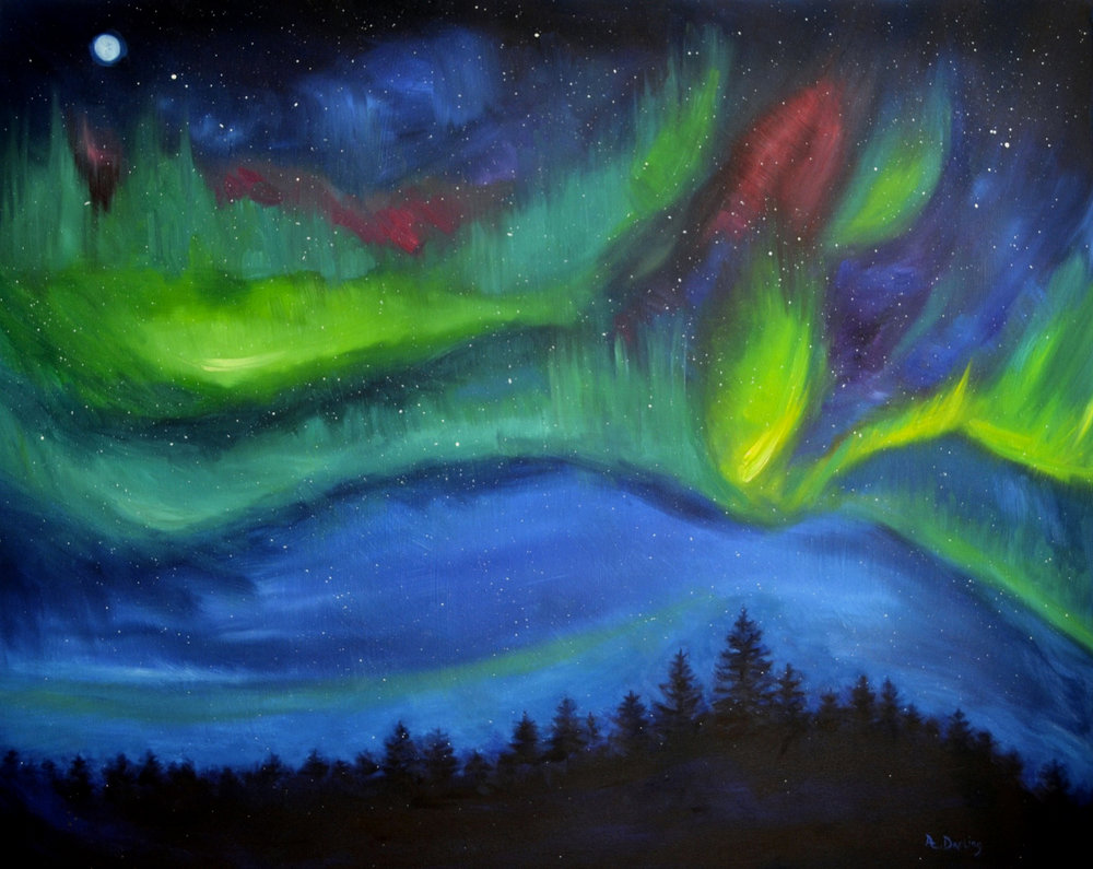 Northern Lights: Green Glow (SOLD)