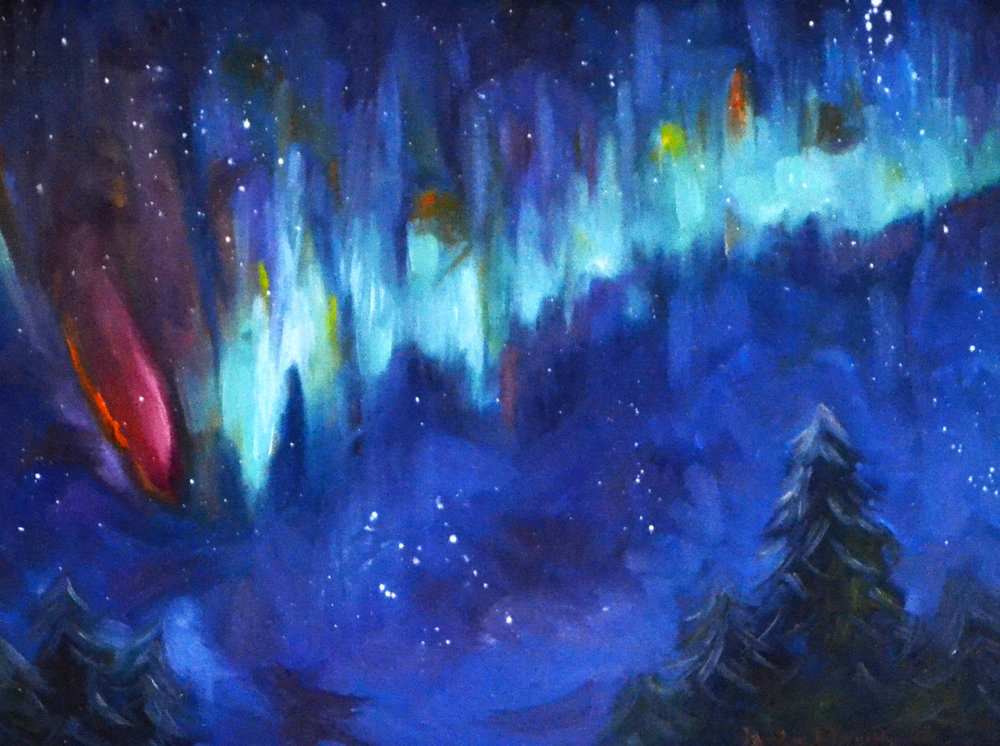Northern Lights: Nature's Colorful Palette (SOLD)