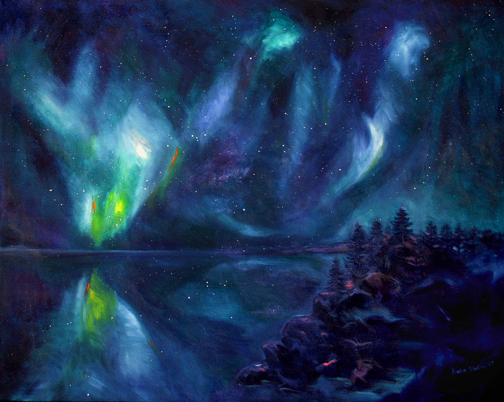 Northern Lights: Lake Superior (SOLD)
