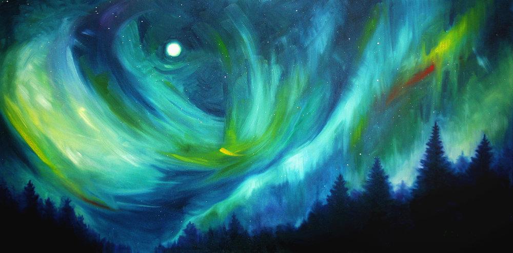 Northern Lights: Lighting the Sky (SOLD)