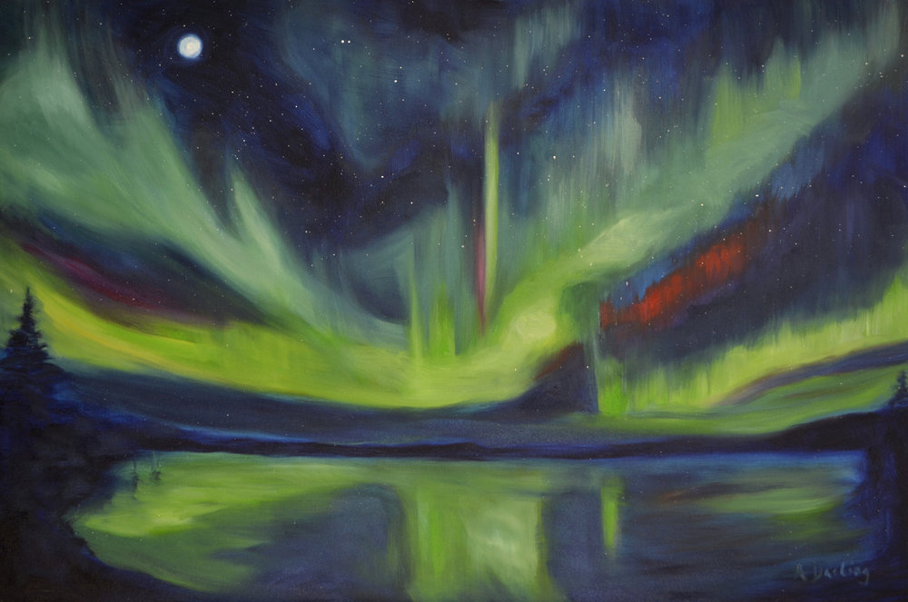 Northern Lights: Reflections (SOLD)
