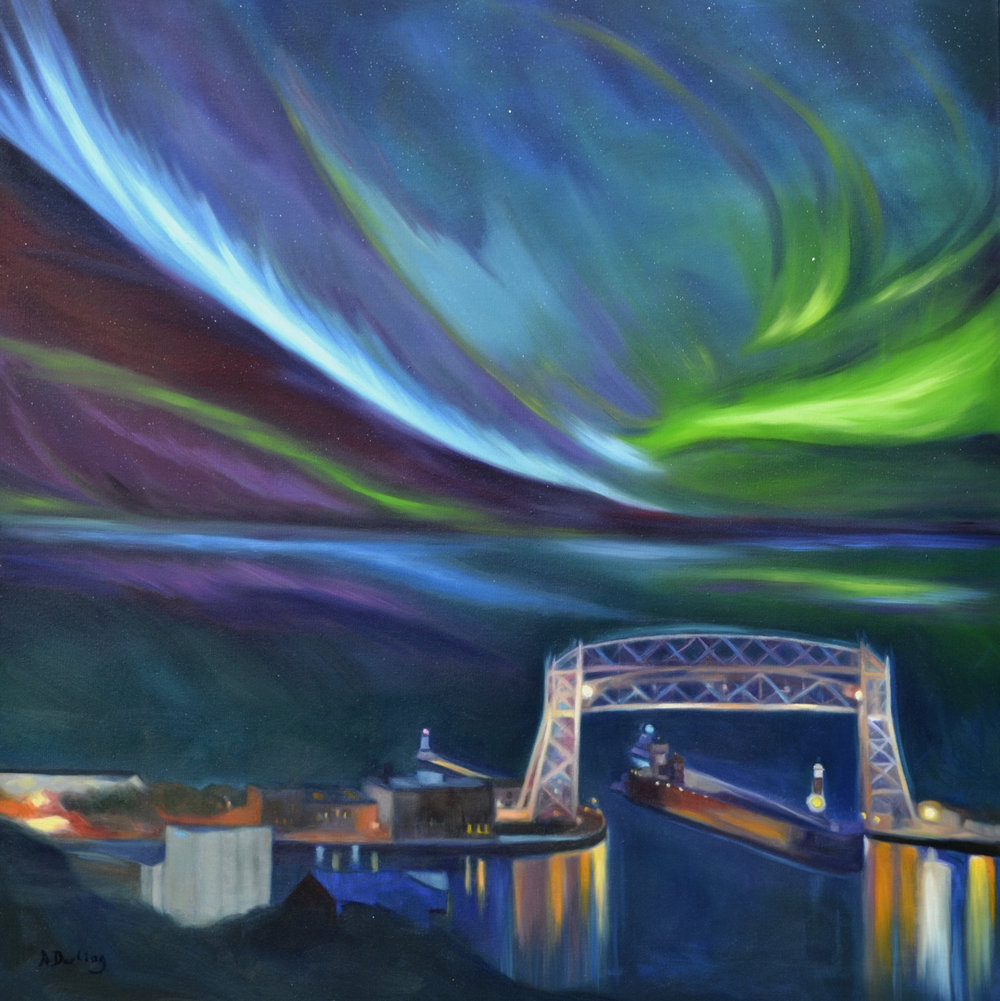 Northern Lights: Aerial Lift Bridge (SOLD)