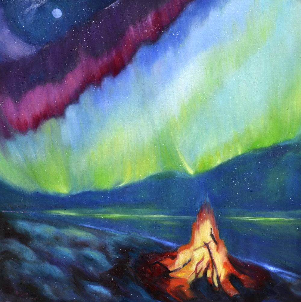 Northern Lights: Beach Fire