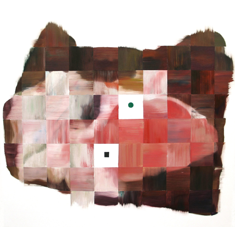 Blank Squares  , painting, oil on canvas, 90 x 90cm, 2011-2012