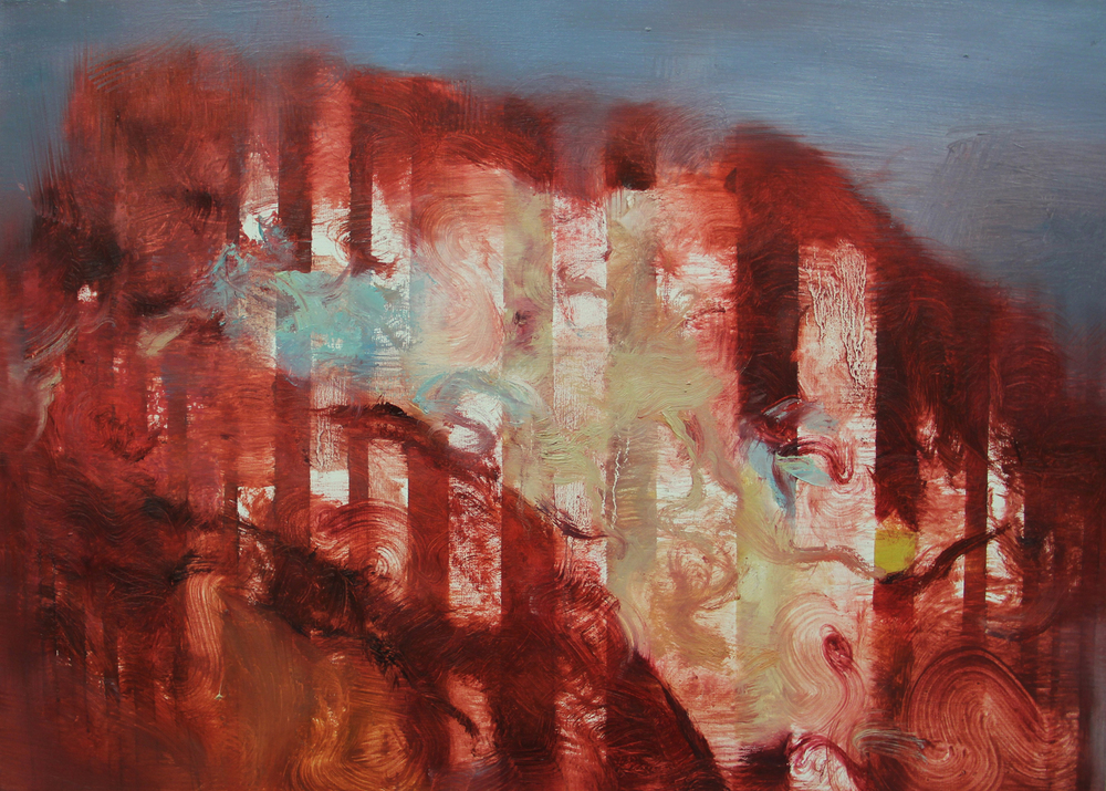 Gaps&Sofa II  ,painting, oil on linen, 60 x 40cm, 2012