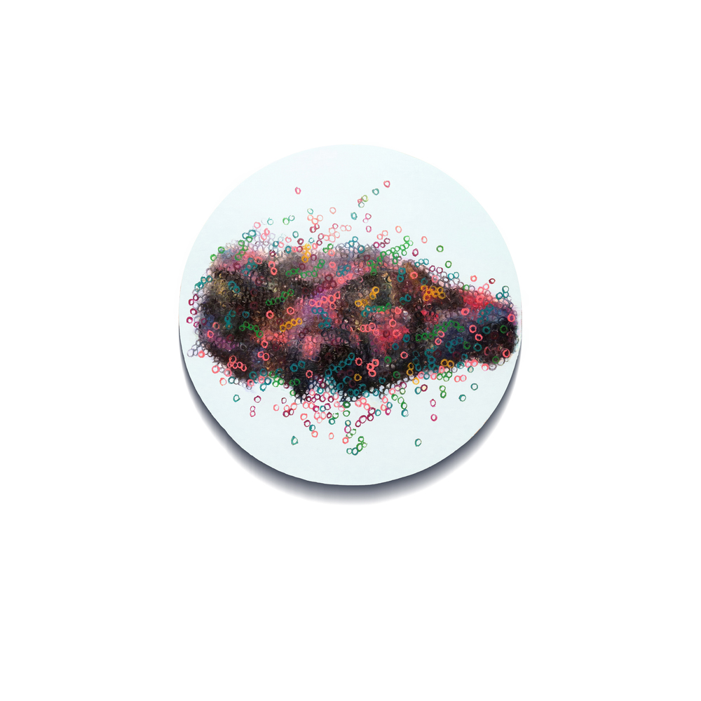 Vague No.1  , painting, oil on linen, Diameter 40cm, 2014