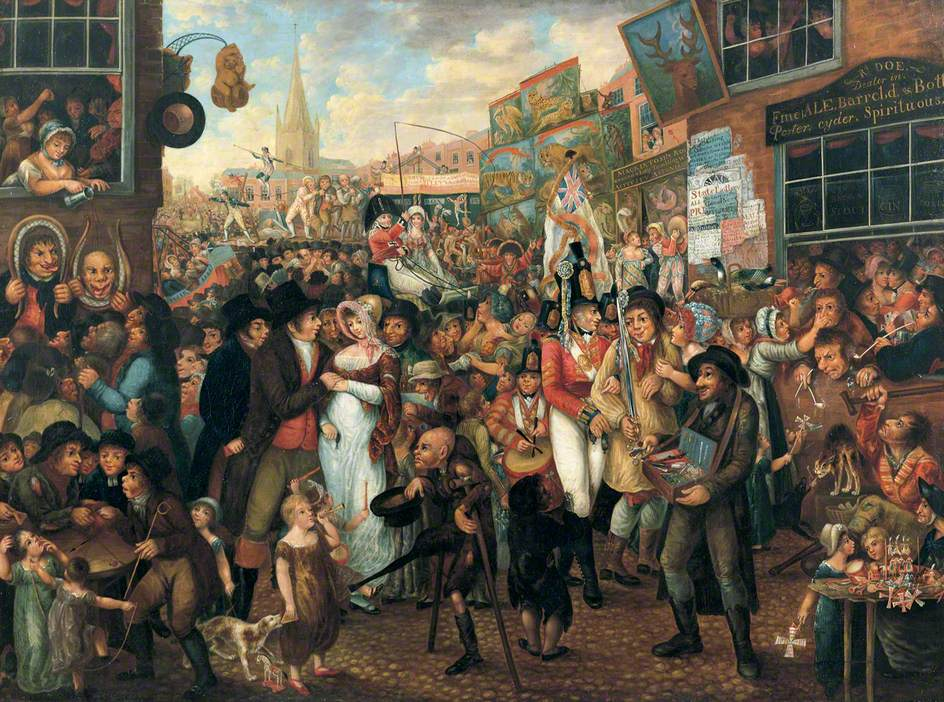 Bartholomew Fair by Benjamin Robert Haydon. [Source: http://www.bbc.co.uk/]
