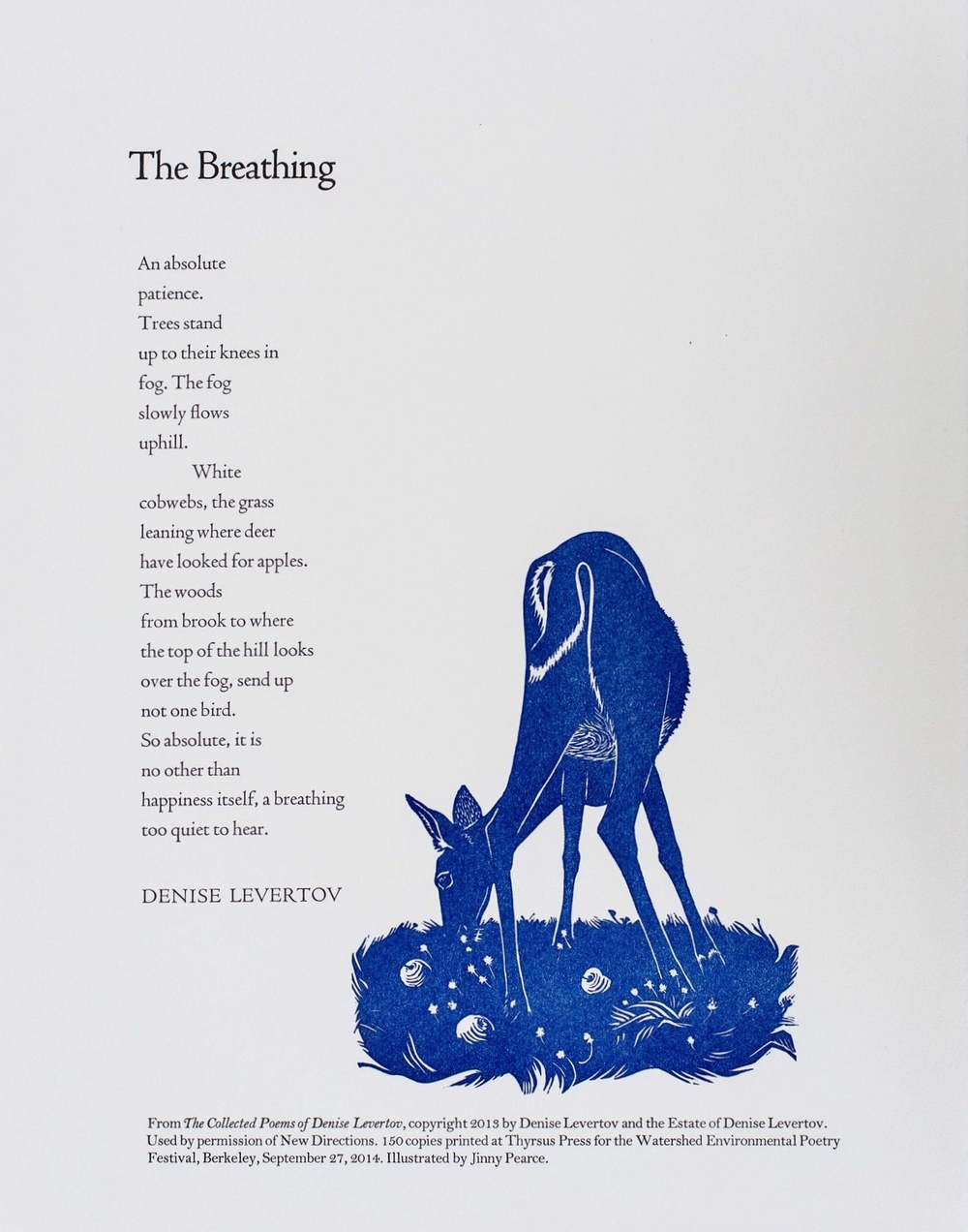 Denise Levertov, The Breathing, 2014