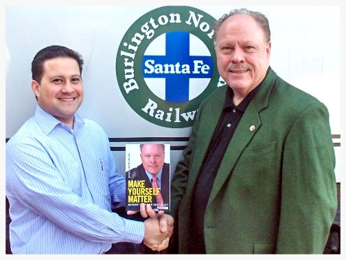 """ It was exciting to race from the printer in Dallas to BNSF in Ft. Worth and deliver the first copies of my first printing of my new book Make Yourself Matter to their senior leadership team."""