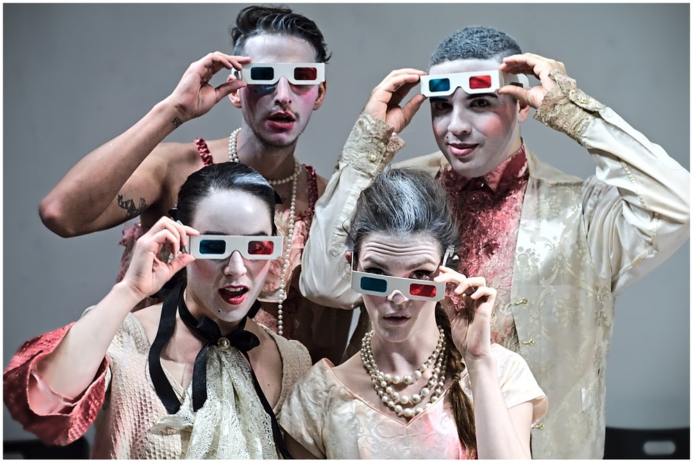 Jennifer White, Nathaniel Scotcher, Sinead Curry and Cheyne Fynn. Photo by Sasha Cohen.