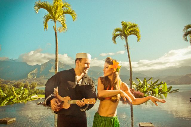 The sailor and his hula girl!