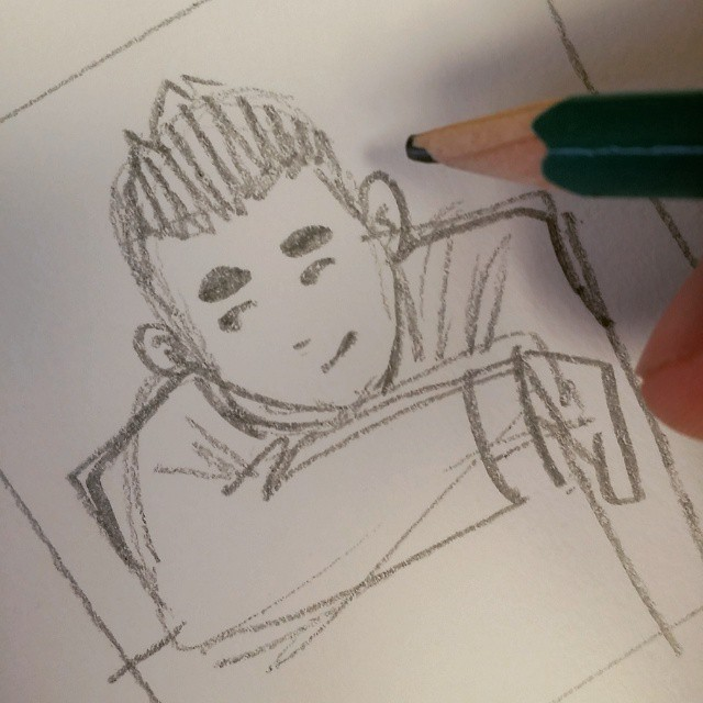 Working on storyboards for my shoot with @chrisota before he leaves hawaii. Those signature eyebrows.