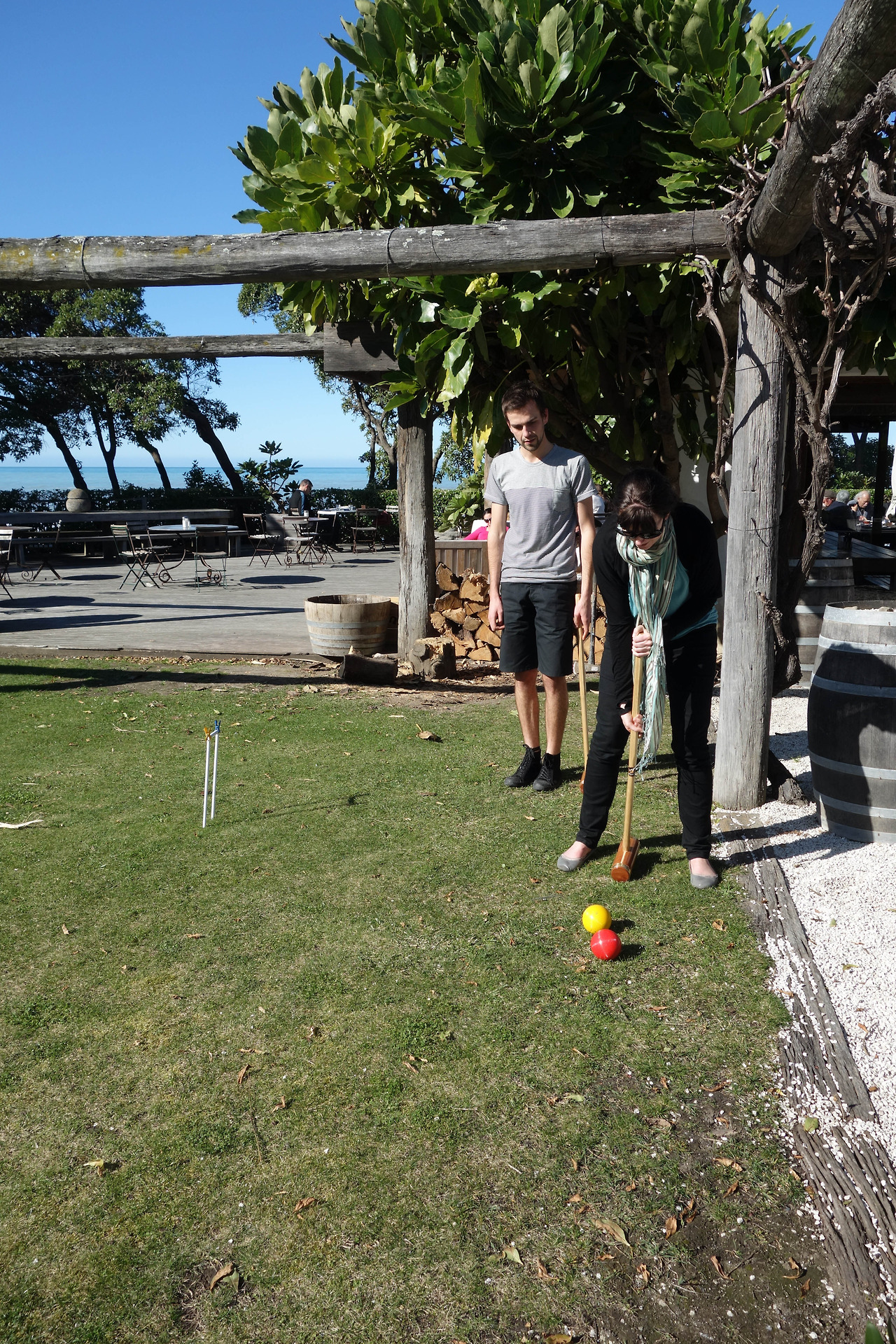 Great day for a spot of croquet on the lawn!!