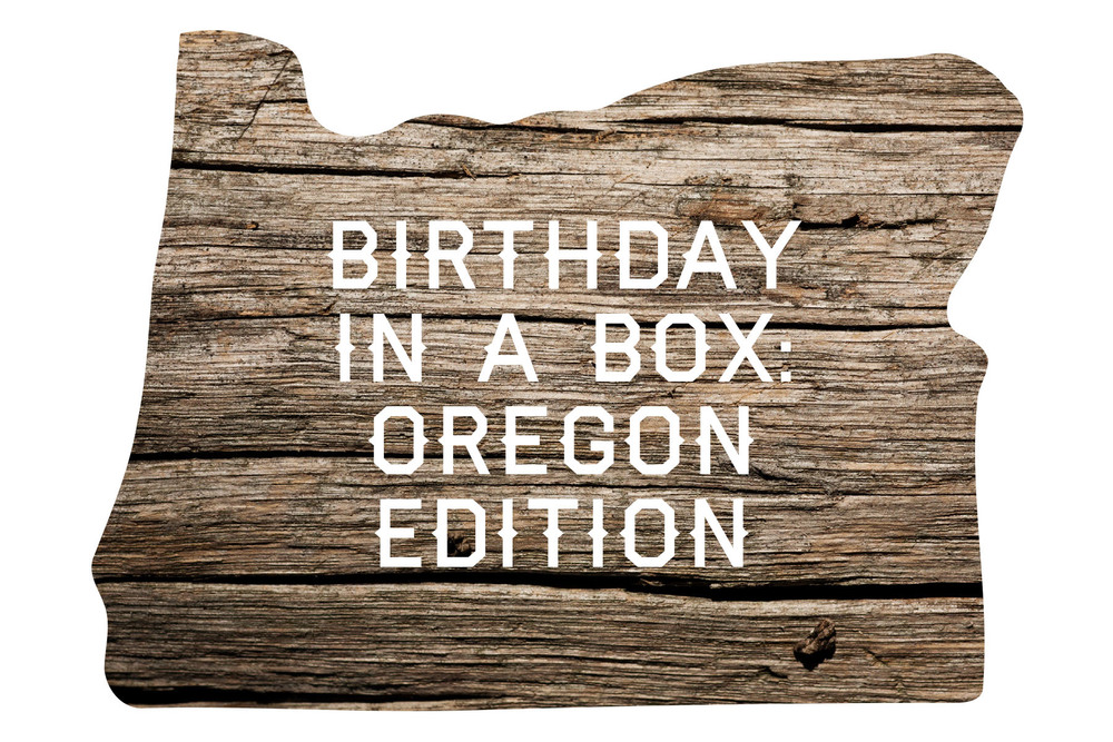 This is a fun little label I made for an Oregon-themed birthday package.