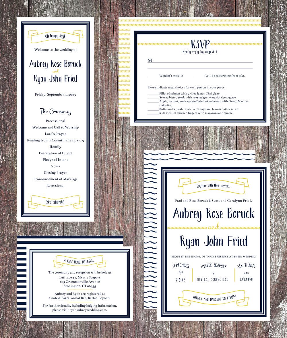 Wedding Invitation Suite and Program