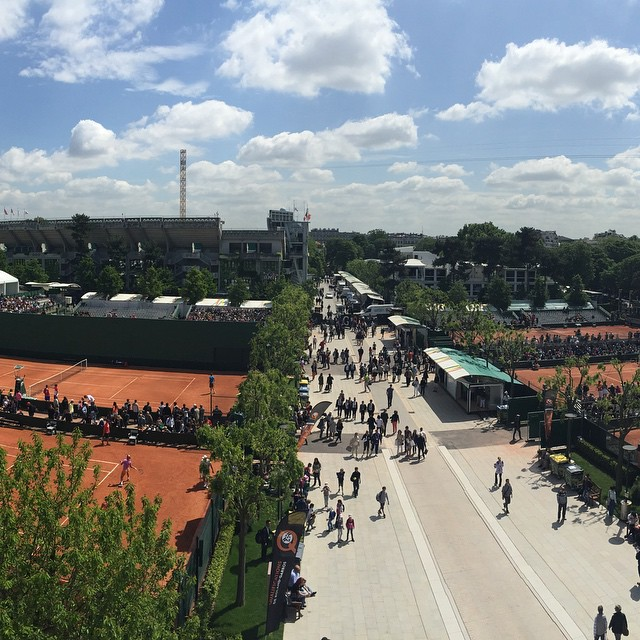 Best place on earth !!! #rolandgarros