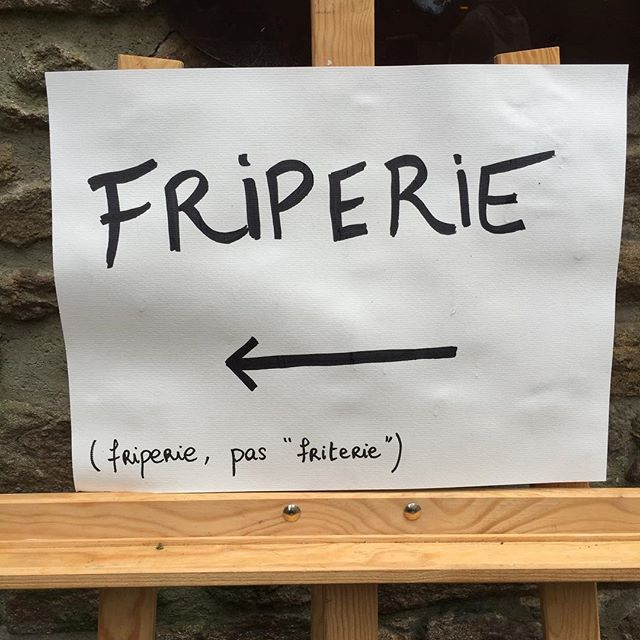 dommage...#friterie #friperie #fautpasconfondre
