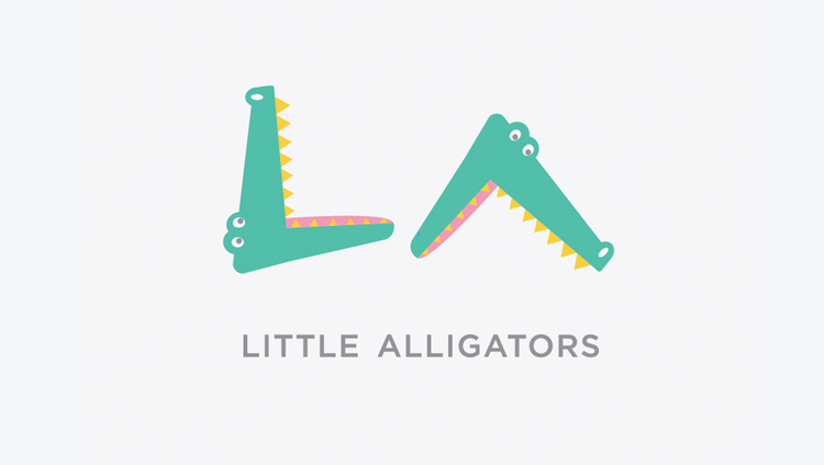Identity for children's boutique, Little Alligators