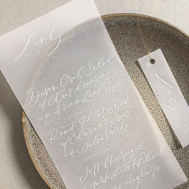 I will never tire of white scrawl on vellum. Pop it on a statement plate and it looks pretty cool! My mission to use more colour in 2019 has not been very successful yet.