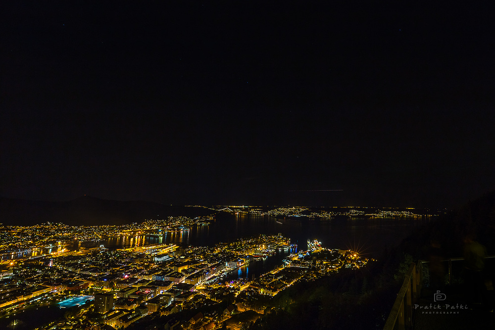 One of the views of Bergen from Mt. Floyen