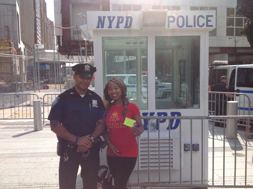 NYPD wanted to know about my mission, I was glad to give some lessons about random acts of kindness