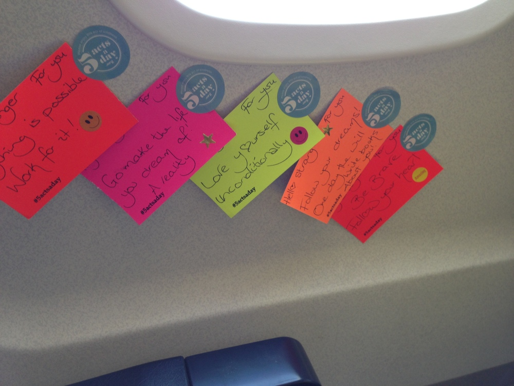 Motivational, kind notes ready to the placed in different places on the place.