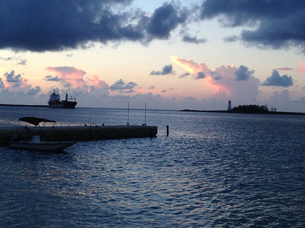 Beautiful evening and sunset in Bahamas