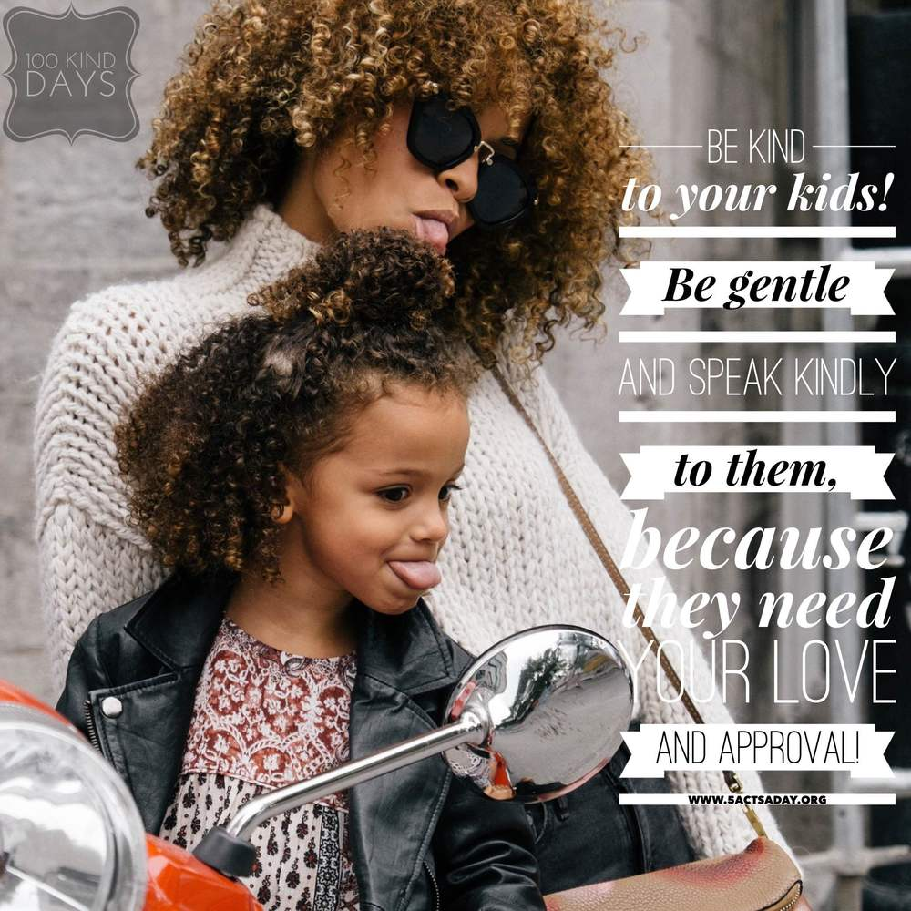100 kind days - be kind to your kids