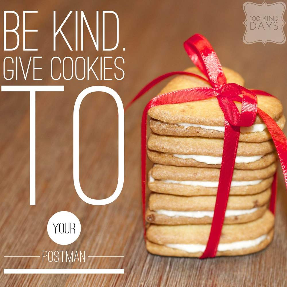100 kind days - Give cookies