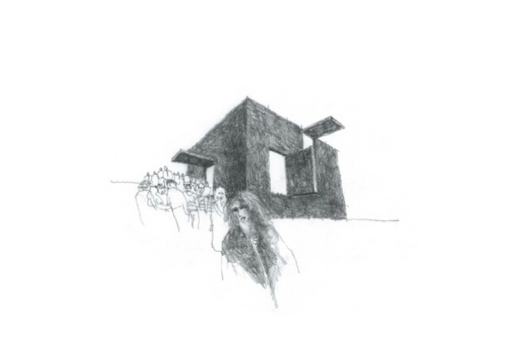 sketch by Barrie Marshall for the Australian Pavilion in Venice