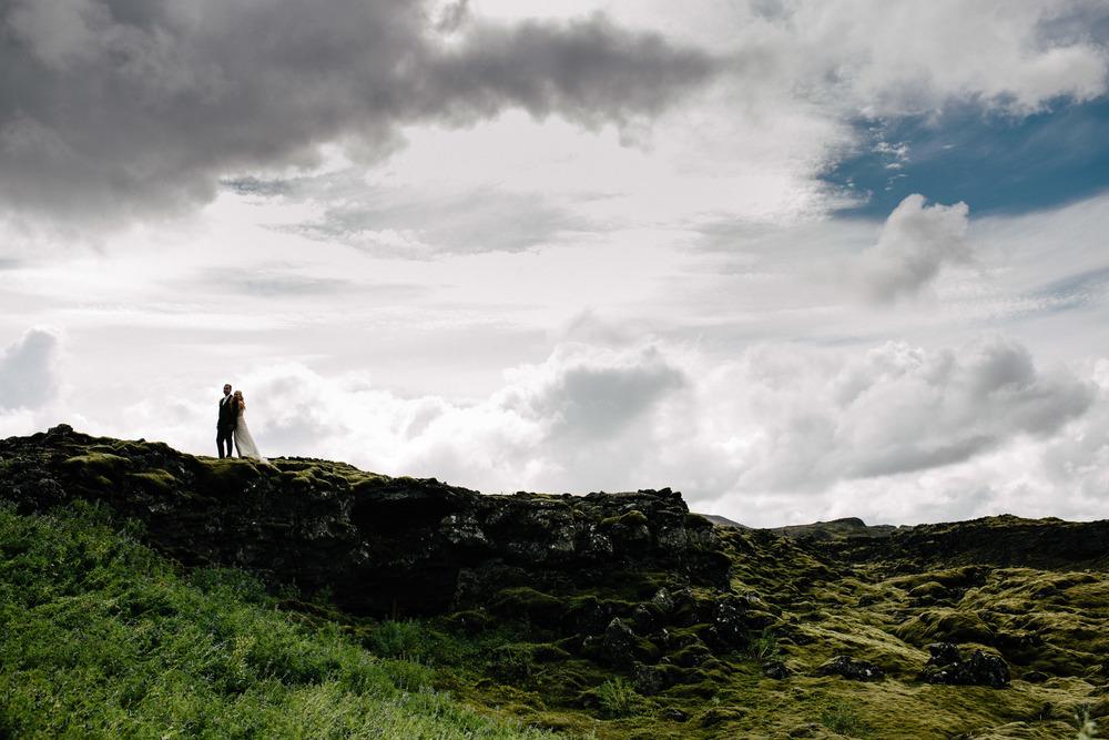 Lava fields near Reykjavik, Iceland