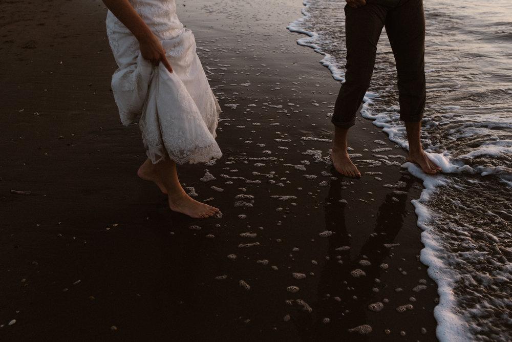 Bruidsfotografie aan de kust
