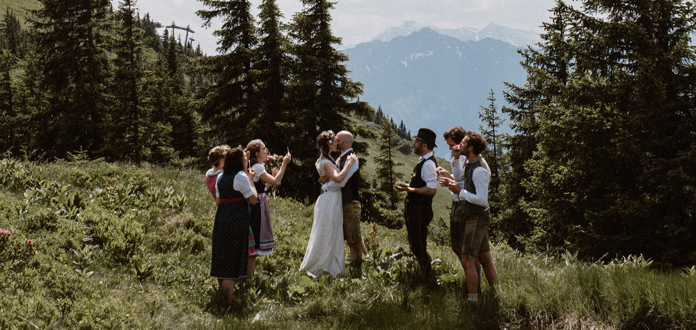 Destination wedding Austrian Alps