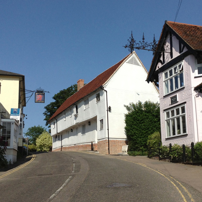View up the hill in Finchingfield