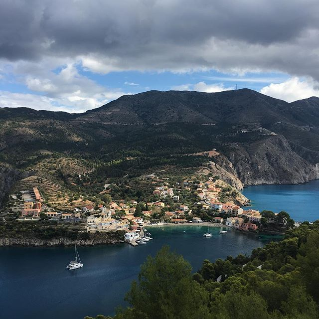 Assos view from the walk to the castle no filters #assos #kephalonia #nofilters