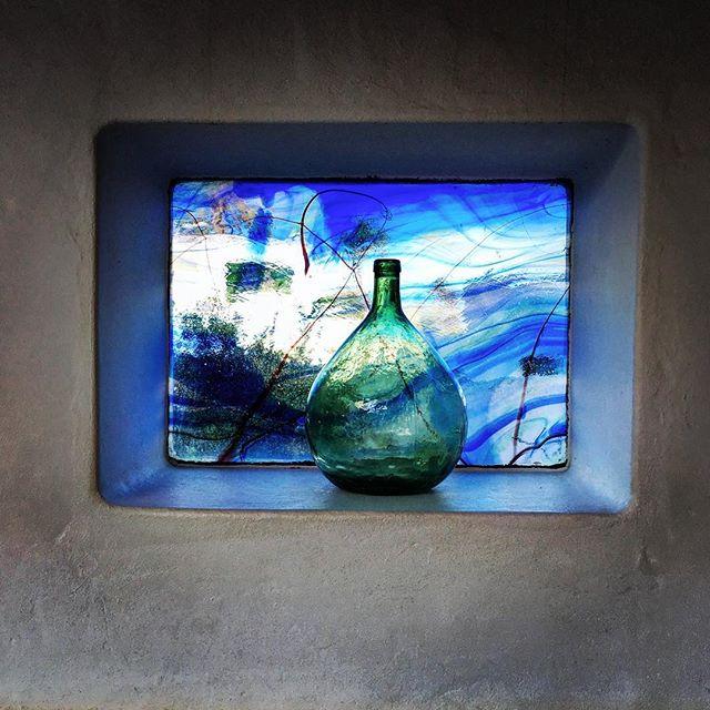 Cesar Manrique window in outdoor space at his house Haría Lanzarote #cesarmanrique #blue window #Haría #Lanzarote
