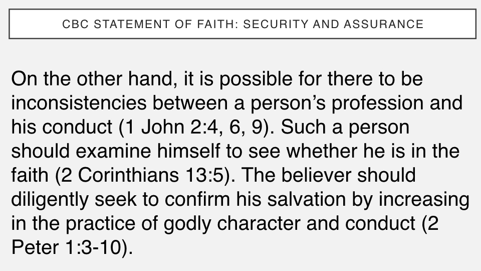 Sermon #39. CBC. 6.17.18 PM. Doctrinal Statement. Security & Assurance.003.jpeg